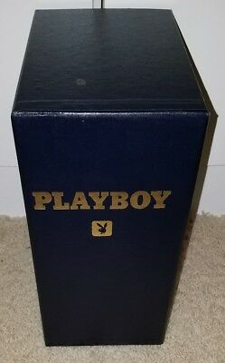 Playboy Library Case Vintage Navy Blue Gold Writing Storage Binder  Collectible