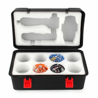 Portable Beyblade Burst Gyro + Launcher Receiving Box Storage Case with Foam