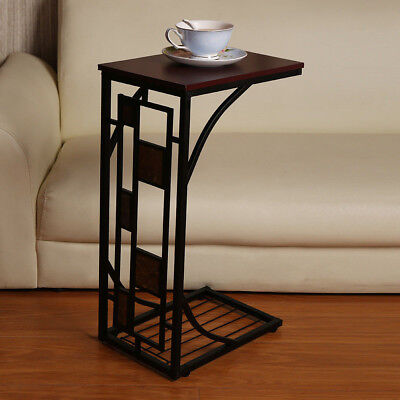 Hot C Shaped Side Sofa Snack Table Coffee Tray End Living Room Furniture