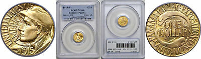 1915-S Panama-Pacific $1 Gold Commemorative PCGS MS-66