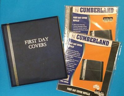 **NEW **FIRST DAY COVER ALBUM CUMBERLAND with 30 pages TOTAL VALUE $87.95!!!!!!