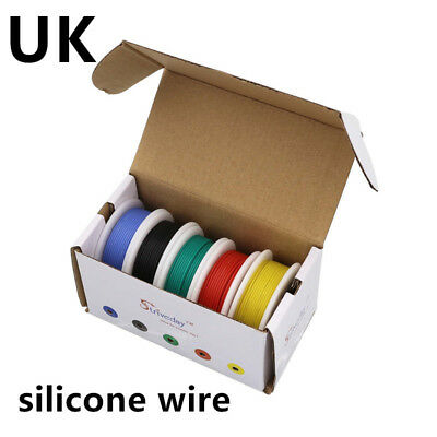 30/28/26/24/22/20/18awg 5 colors Flexible Silicone Wire Tinned Copper