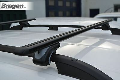 To Fit 2007 - 2016 Fiat Scudo Black Aluminium Roof Locking Cross Bars + T Pieces