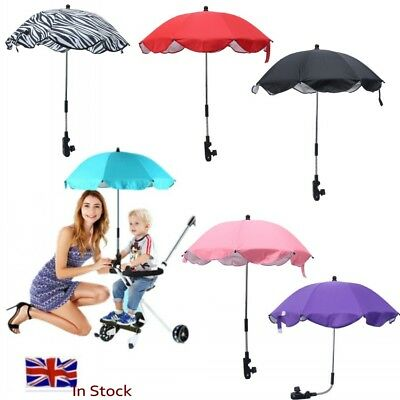 Baby UMBRELLA Parasol Pram Pushchair Buggy Stroller Sunshade Brolly Sun