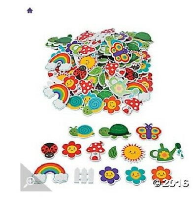 "100pc ""garden foam stickers"" - stickers for craft - scrapbooking stickers - NEW"