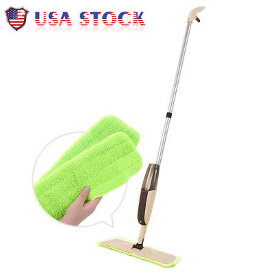 Hot Spray Mop with Two Reusable Super Soft Microfiber Pads for Kitchen House US