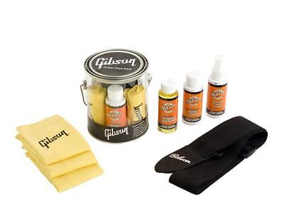 Gibson Clear Bucket Care Kit Gitarren Pflege Set Politur Reinigung + Nylon Gurt