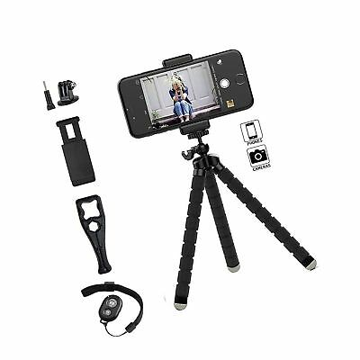 Gopro Tripod Stand,Octopus Lightweight Adjustable Camera Stand Phone Tripod H...