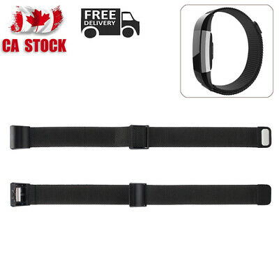 Metal Steel Milanese Magnet Strap Replacement Watch Band For Fitbit Charge 2 CA