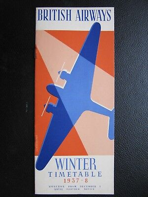 BRITISH AIRWAYS rare winter timetable 1937-38