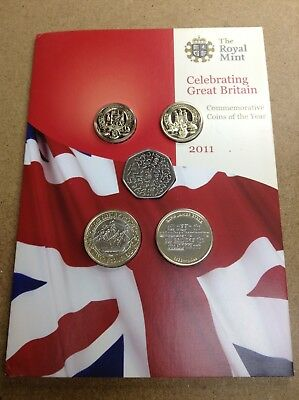United Kingdom - Great Britain - 2011 - 13 Coin Uncirculated Set - See Photos