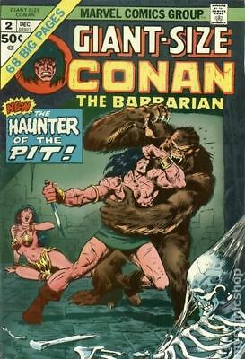 Giant Size Conan #2 1974 FN- 5.5 Stock Image Low Grade