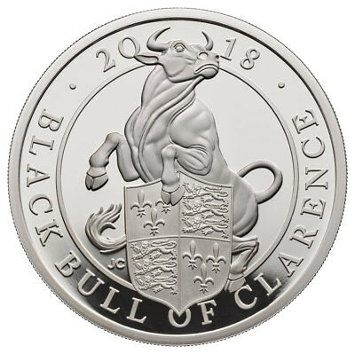 2018 Britain 1 oz Silver Queen's Beasts Black Bull Clarence Proof OGP SKU52880