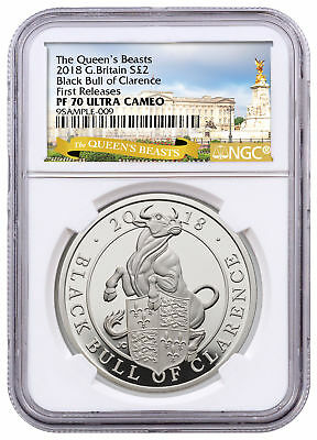 2018 Britain 1 oz Silver Queen's Beasts Black Bull Clarence NGC PF70 FR SKU53528