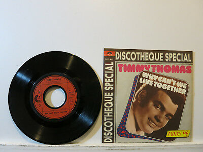 """Timmy Thomas - Why can't we live together / Funky me 7"""" 1972 Polydor PicCover NM"""