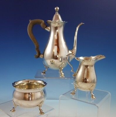 King William by Tiffany and Co Sterling Silver Demitasse Set 3pc #23343 (#2355)