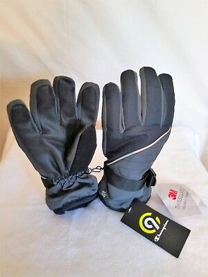 NWT New Champion C9 3M Insulated Thinsulated Boy's Girl's Gloves 4-7 Black/Gray