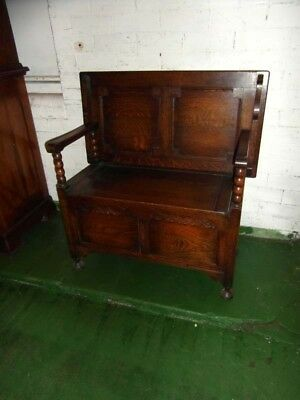 Small Size Oak Monks Bench