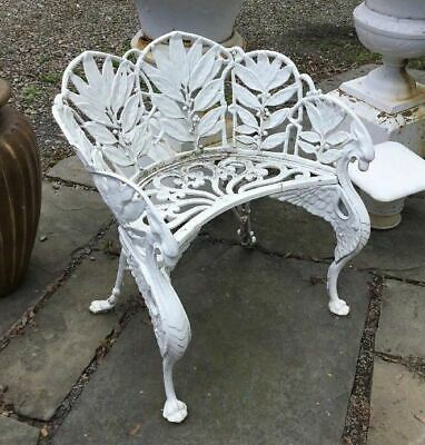 Vintage Antique Cast Iron Figural Winged Griffin Garden Chair Signed Hart