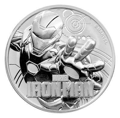 IRON MAN - MARVEL SERIES 2018 1 oz Pure Silver Coin CAPSULE Tuvalu - Perth Mint