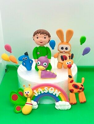 Edible Cake Toppers Baby TV Charlie Number Giraffe Boy Girll Birthday Decorating