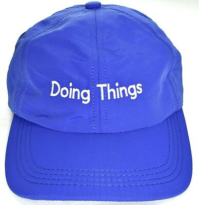 "OUTDOOR VOICES ""Doing Things"" Adjustable Running Hat/Cap Blue >NEW<"
