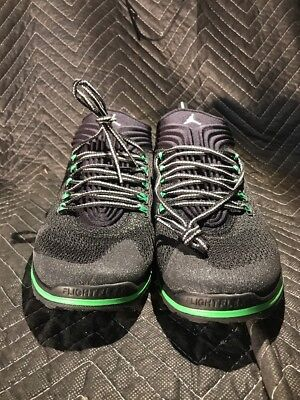 huge discount 16a45 2dc3a Men s Nike AirJordan Flight Flex Trainer Shoes 654268-033 Black Green Size  13