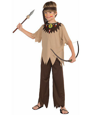 Native American Indian Boy Brave Tribal Warrior Childs Costume-S  sc 1 st  PicClick & NATIVE AMERICAN INDIAN Boy Brave Tribal Warrior Childs Costume-S ...