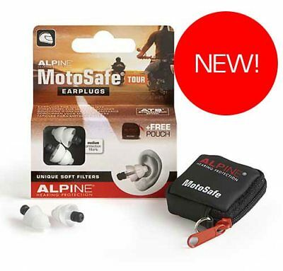 Alpine MotoSafe TOUR Motor Sport Hearing Protection Motorcycle Earplugs - SUPERB
