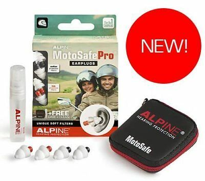 Alpine MotoSafe PRO Motor Sport Hearing Protection Motorcycle Earplugs - SUPERB