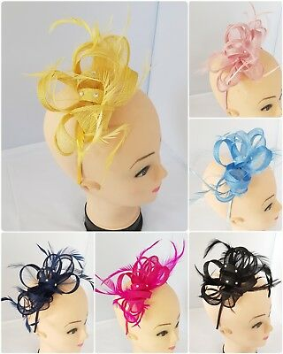 Elegant Headband and Clip Fascinator Weddings Ladies Day Race Royal Ascot