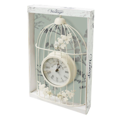 Large Skeleton Frame white Metal Garden Wall Clock With Roman Numerals – 40 Cm