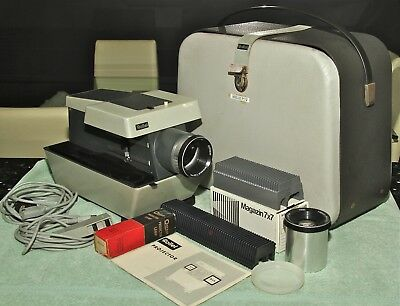 ROLLEI P11 SLIDE PROJECTOR FOR 6X6 & 35mm with 2 lenses  - Serviced