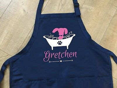 dog groomer apron. personalized dog lover gift, pet owner gift, animal lover