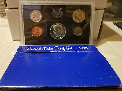 1970 United States Mint Proof Set In Original Packaging 5 Coin Set *real Nice*