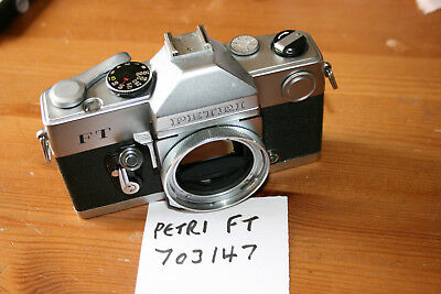 Vintage Petri FT 35mm SLR Camera Body, WORKING, With Cable Release