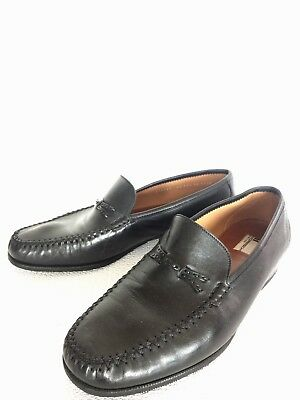 4dabe474a4d AUTHENTIC MORESCHI BLACK Leather Loafers Shoes