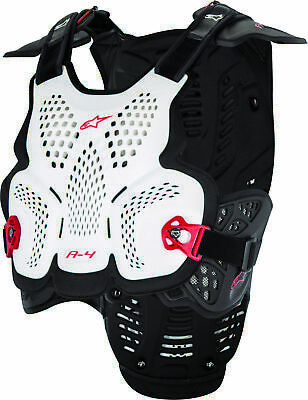 Alpinestars A-4 Chest Protector MD/LG White/Black/Red 6701517-213-M/L