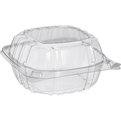 Small Clear Plastic Hinged Food Container 6x6 for Sandwich Salad Party Favor ...