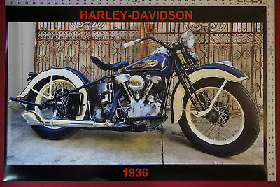 22x34 MOTORCYCLE 15668 CLASSIC RACER POSTER HARLEY-DAVIDSON