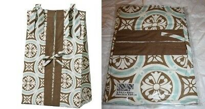 My BABY SAM Blue / Brown Diaper Stacker Medallion NIP