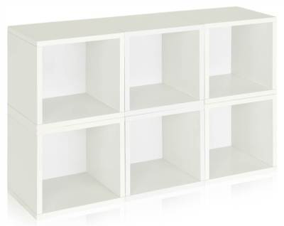 Modular Storage Cube in White - Set of 6 [ID 133034]