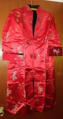 Reversible Satin Brocade CHINESE Asian ORIENTAL Womens DRESS Coat - One Size  #Y