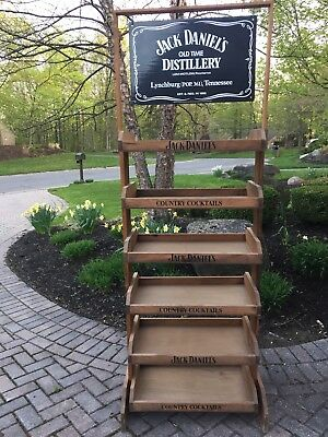 "JACK DANIELS COUNTRY COCKTAILS Display Rack With Five(5) Shelves. ""Perfect"""