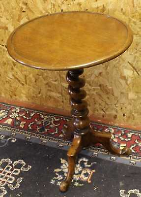 Versatile Mahogany Side Table with Barley Twist Stand.
