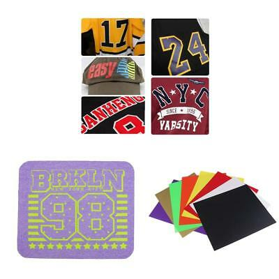 Assorted HTV Heat Transfer Vinyl 25x25cm Sheets for T Shirts, Hats, Clothing