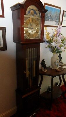 Beautiful Grandmother brass faced by  (Fenclocks) of Suffolk, Long case clock,