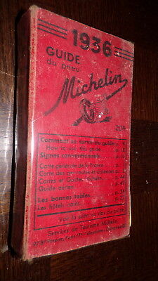 Guide Michelin France 1936
