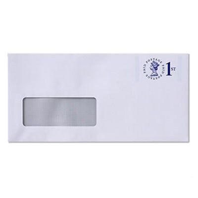 Royal Mail Prepaid 1st Class DL Window Envelope - Max 100g X100