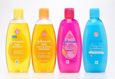 200ml JOHNSON'S NO MORE TEAR ACTIVE KIDS SOFT & SHINY DROPS SHAMPOO ACTIVE FRESH